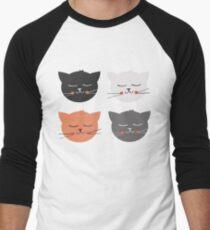 Cat Madness Men's Baseball ¾ T-Shirt