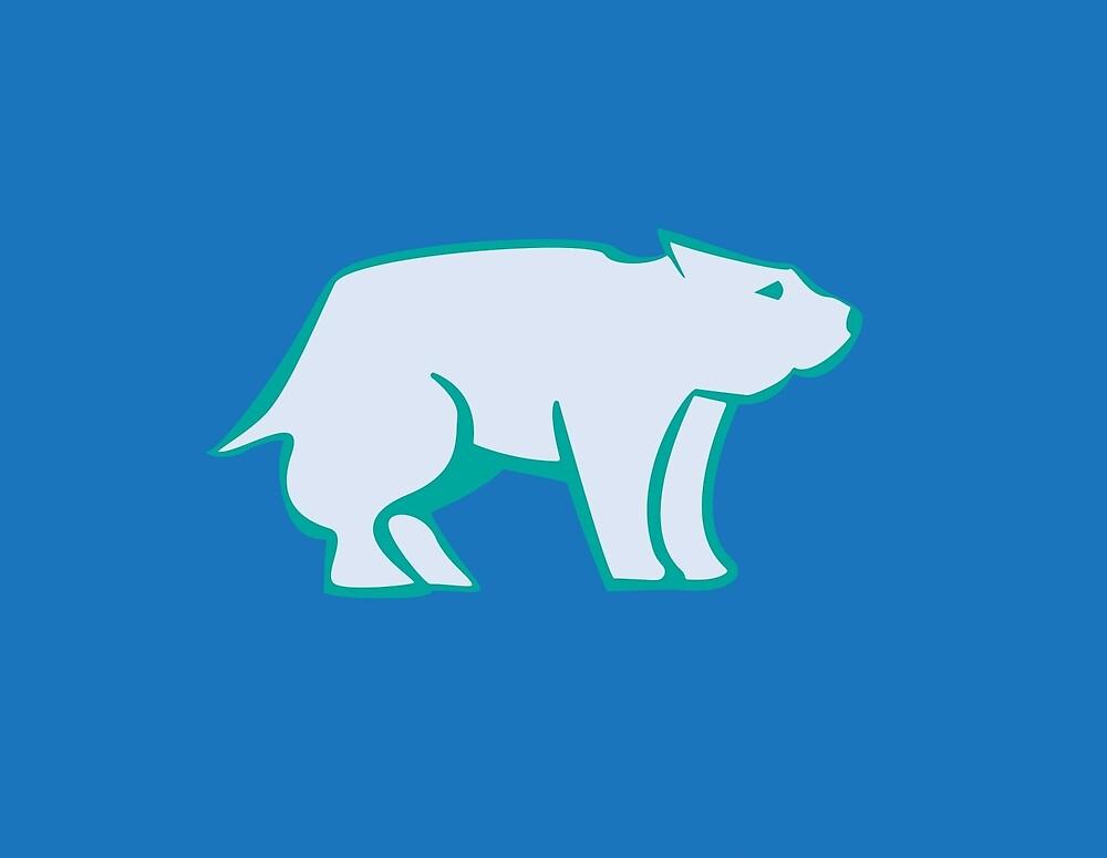 Polar Bear-w/bg by bpounciecarr