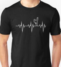taekwondo heart beat korea martial art T-Shirt
