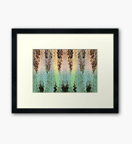 Mythical Yarn Of Three Raccoon Framed Print