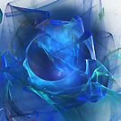 Blue abstract flame by Lois Bennett