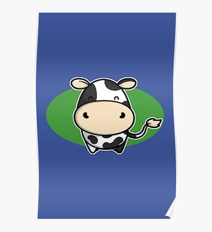 Cute Cow Poster