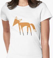 Foxy Pattern Women's Fitted T-Shirt