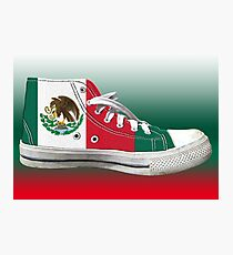 Hi Top Mexico Basketball Shoe Flag Photographic Print