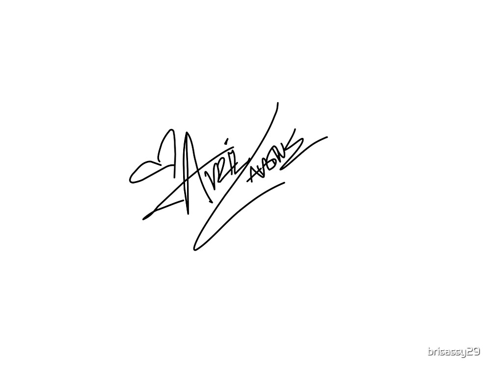 avril lavigne signature by brisassy29