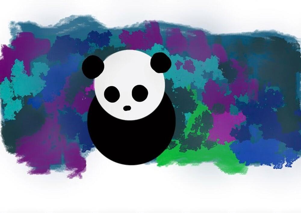 panda&color splashes by stormi41703