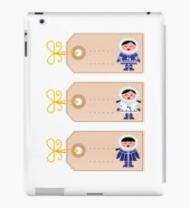 Blank retro christmas tags with cute Eskimos iPad Case/Skin