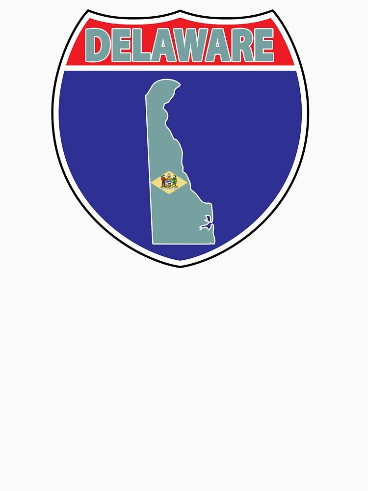 I love Delaware flag US highway seal sign by mamatgaye