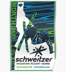 Schweitzer Mountain Resort - Ski the West Poster