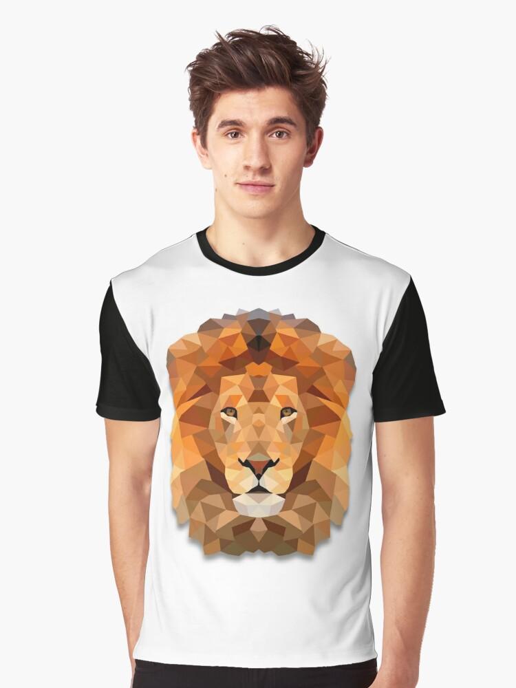 Lion Graphic T-Shirt Front