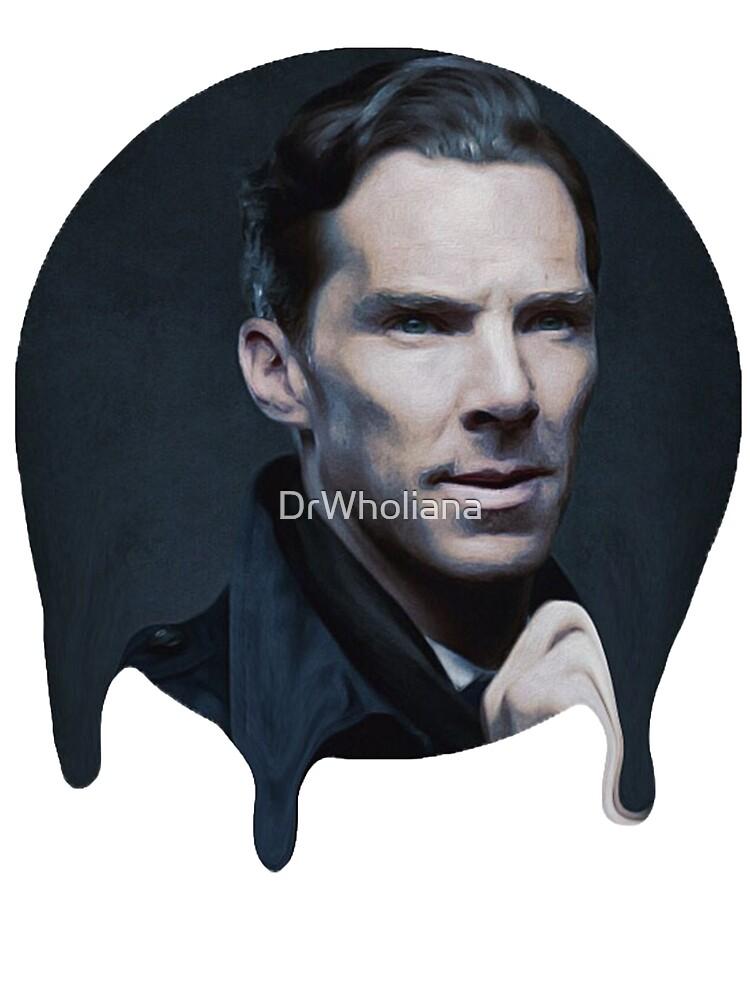 Benedict Cumberbatch- Dripping Portrait  by DrWholiana