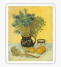 Van Gogh - Majolica Jug with Wildflowers (1888) Sticker