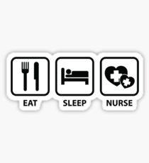 Eat Sleep Nurse Sticker