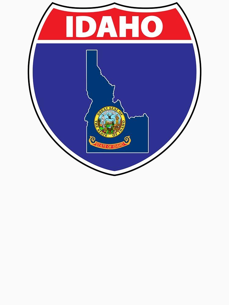 Idaho flag USA highway seal sign by mamatgaye