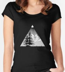 Outdoor Nature Women's Fitted Scoop T-Shirt