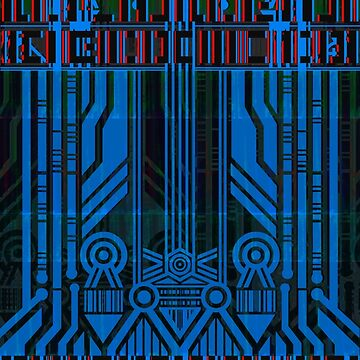 Cyberpunk Glitch Pattern 1 by Aaro26