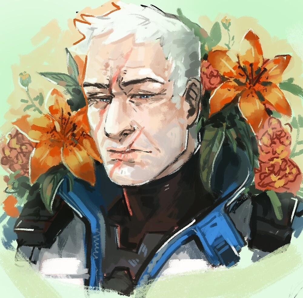 flower grandpa by pirikko