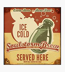 Ice Cold Soulstorm Brew Photographic Print