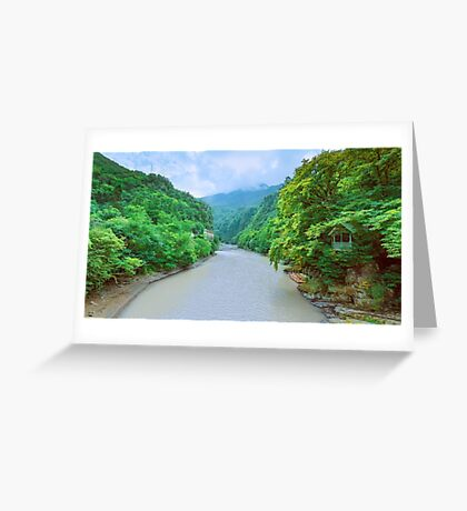 A view from a Stone Bridge Greeting Card