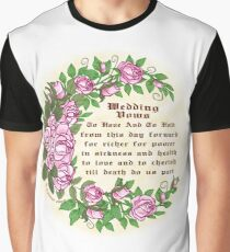 Roses Wedding Vows Graphic T-Shirt