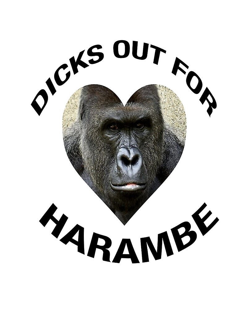 DICKS OUT FOR HARAMBE by HarambeShirt