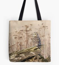 Short-eared Owl in Natural Sepia Tote Bag