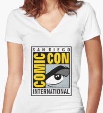 Comic Con Women's Fitted V-Neck T-Shirt
