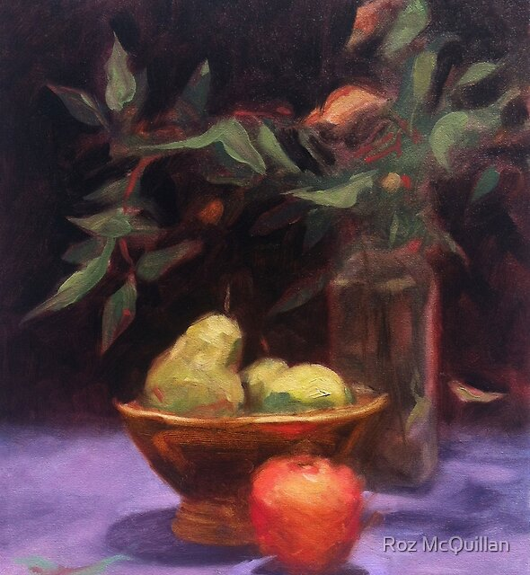 Still Life with Pears by Roz McQuillan