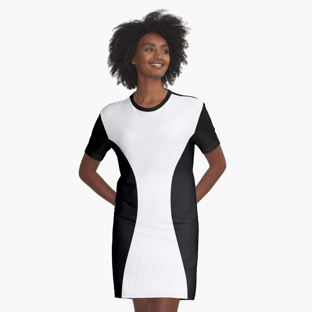Slimming dress Graphic T-Shirt Dress Front