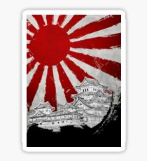 Japanischer Palast und Sonne Sticker