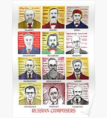 12 Russian Composer Portraits Poster