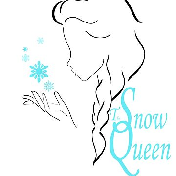 Snow queen´s outline in black by artescultura