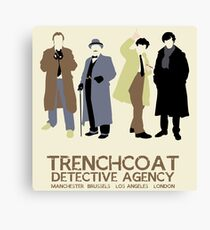 Trenchcoat Detective Agency Canvas Print
