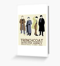 Trenchcoat Detective Agency Greeting Card
