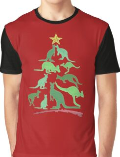 Kangaroo Christmas Graphic T-Shirt