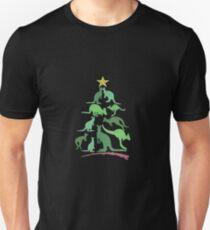 Kangaroo Christmas Unisex T-Shirt