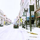 """""""A Cold and Snowy Day in Downtown Knoxville, Tennessee""""... prints and products by Bob Hall©"""