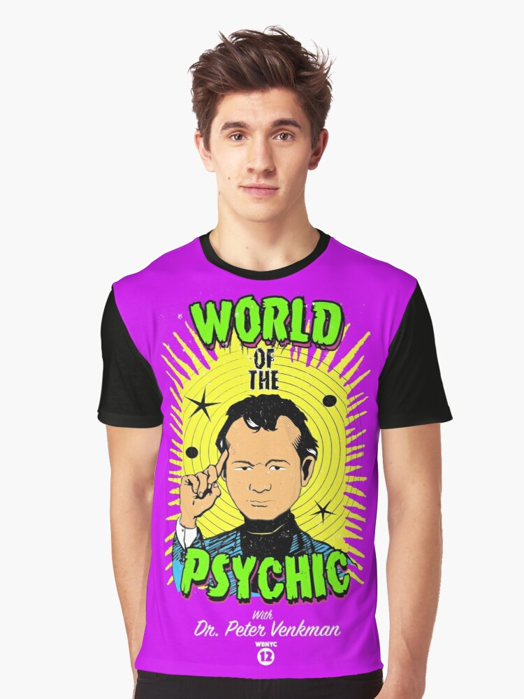 Ghostbusters World of the Psychic Graphic T-Shirt Front