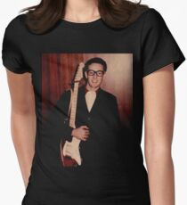 Buddy Holly  Womens Fitted T-Shirt