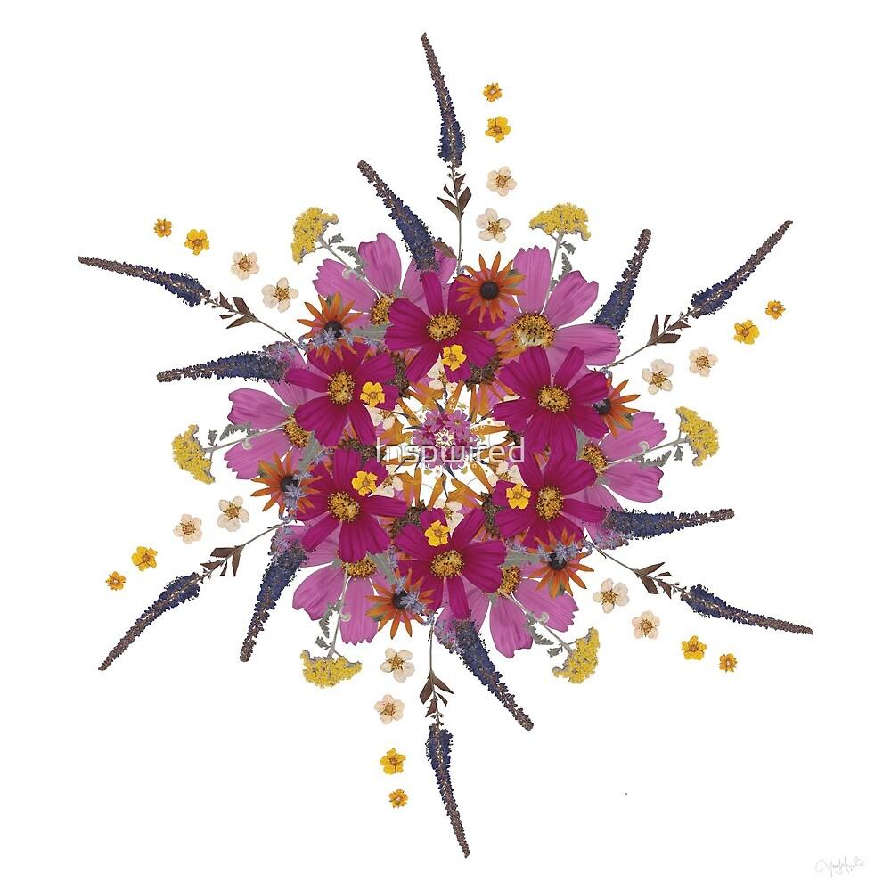 Pressed Flower Mandala No.1 by Inspwired