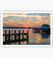 Sunset in Gloucester Sticker
