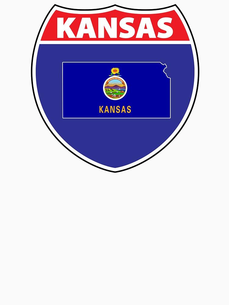 Kansas flag US highway seal  by mamatgaye