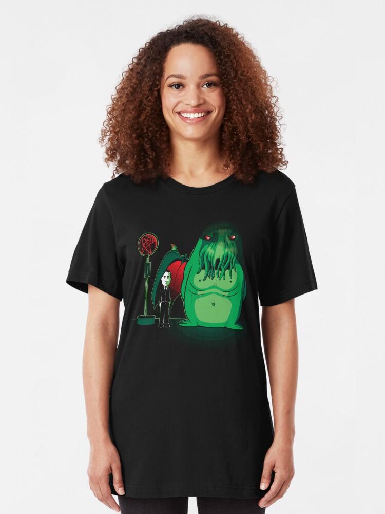 Alternative Ansicht von Cthulhu Waits Slim Fit T-Shirt