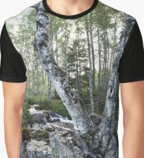 Twin Birch Tree Graphic T-Shirt