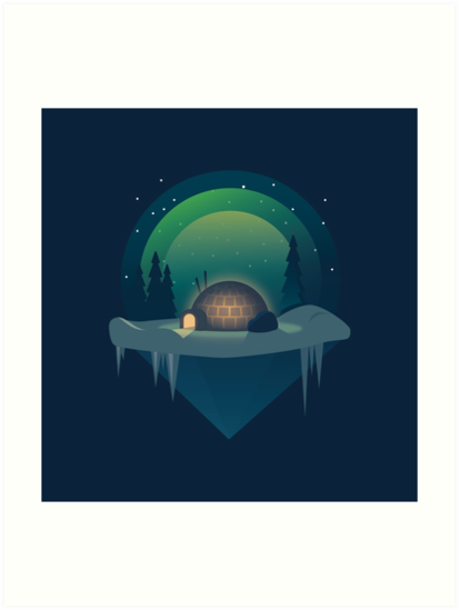 The Lonely Igloo by darumacreative
