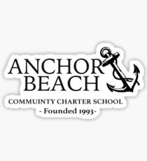 Anchor Beach  Sticker