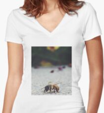 Bee Life Women's Fitted V-Neck T-Shirt