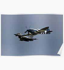 Modern fighter and Old flighter  Poster