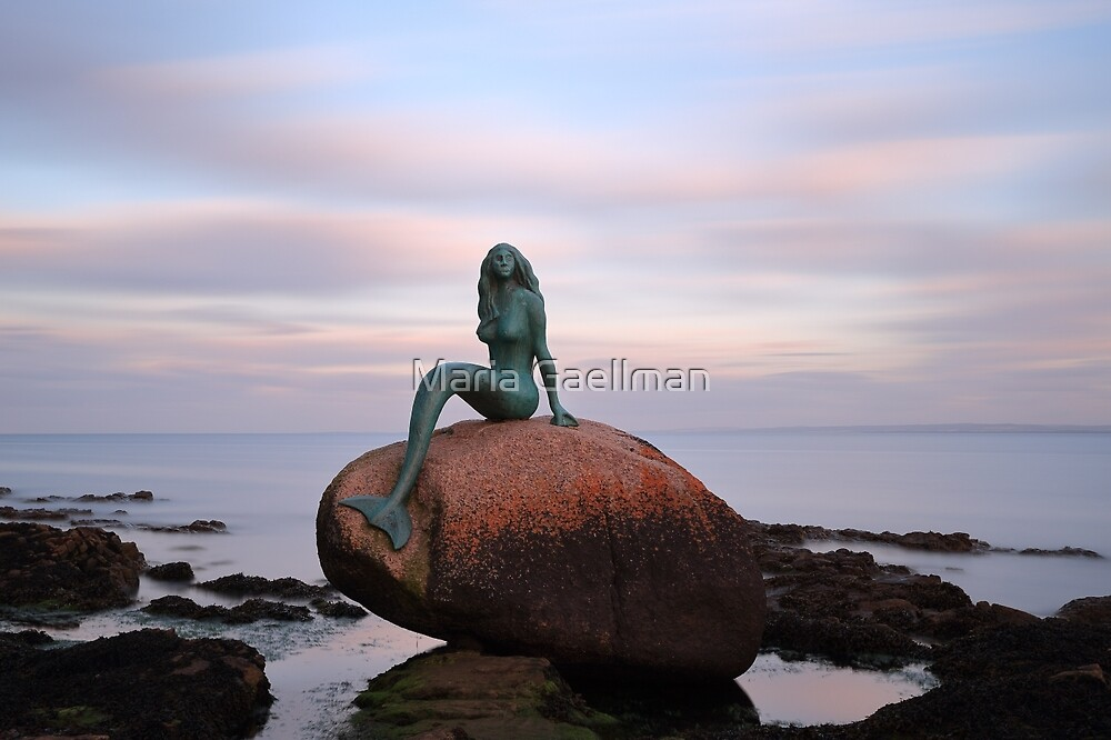 Mermaid of the North at Sunset by Maria Gaellman