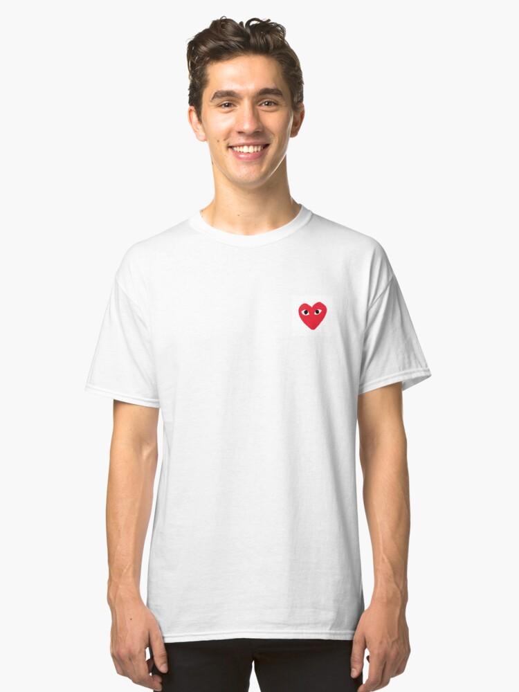 heart eye shirt Classic T-Shirt Front